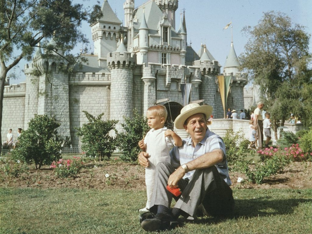 Walt Disney and his Grandchild