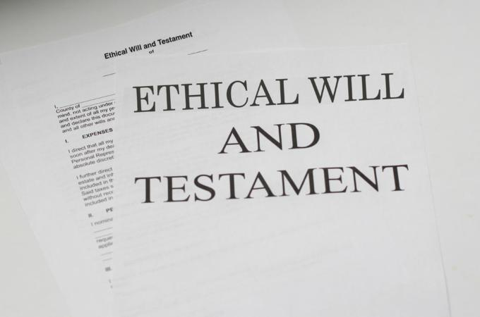 Ethical will